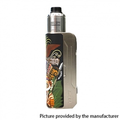 Authentic Hippovape Papua Box Mod 100W VV VW Box Mod 18650/20700/21700 w/24mm RDA Kit - Silver