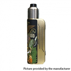 Authentic Hippovape Papua Box Mod 100W VV VW Box Mod 18650/20700/21700 w/24mm RDA Kit - Gold