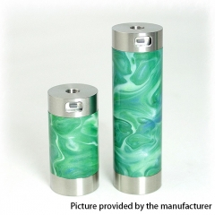 Authentic CoolVapor Takit Mini V2 24mm Semi-Mechanical Mod 18350/18650 - Silver + Green