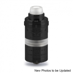 ULTON Kronos 2S 23mm Style 316SS RTA Rebuildable Tank Atomizer 4ml - Black