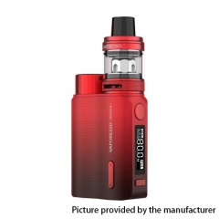 (Ships from HK)Authentic Vaporesso SWAG II 80W VW 18650 Box Mod w/ NRG PE Tank Atomizer Kit 3.5ml - Red