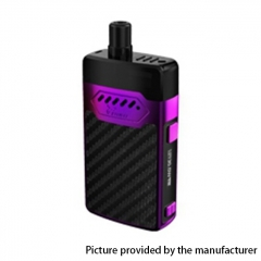 Authentic Hellvape GRIMM 30W 1200mAh VW Box Mod Pod System Starter Kit 3ml/0.7ohm/1.2ohm - Purple Carbon Fiber
