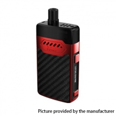 Authentic Hellvape GRIMM 30W 1200mAh VW Box Mod Pod System Starter Kit 3ml/0.7ohm/1.2ohm - Red Carbon Fiber