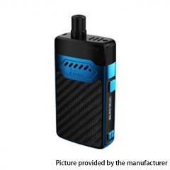 Authentic Hellvape GRIMM 30W 1200mAh VW Box Mod Pod System Starter Kit 3ml/0.7ohm/1.2ohm - Blue Carbon Fiber