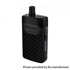 Authentic Hellvape GRIMM 30W 1200mAh VW Box Mod Pod System Starter Kit 3ml/0.7ohm/1.2ohm - Black Carbon Fiber