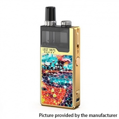 Authentic Lost Vape Orion Q-PRO Q Pro 24W 950mAh Pod System Starter Kit 2ml/0.5ohm/1ohm - Gold/Dazzling