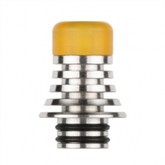 Reewape 510 Replacement Drip Tip 10mm AS278S - Silver Yellow