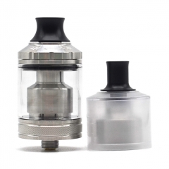 ULTON Gata Style 24mm 2-in-1 MTL&DTL RTA Rebuildable Tank Atomizer 2ml/4ml(1:1) - Silver