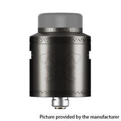 Authentic Hellvape Dead Rabbit V2 24mm RDA Rebuildable Dripping Atomzier w/ BF Pin - Gun Metal