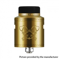 Authentic Hellvape Dead Rabbit V2 24mm RDA Rebuildable Dripping Atomzier w/ BF Pin - Gold