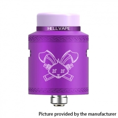 Authentic Hellvape Dead Rabbit V2 24mm RDA Rebuildable Dripping Atomzier w/ BF Pin - Purple