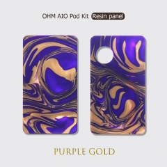 Replacement Resin Pannels + Drip Tip for Ohm Vape AIO 42W Kit - Purple Gold