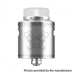 Authentic Hellvape Dead Rabbit V2 24mm RDA Rebuildable Dripping Atomzier w/ BF Pin - Silver