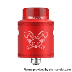 Authentic Hellvape Dead Rabbit V2 24mm RDA Rebuildable Dripping Atomzier w/ BF Pin - Red