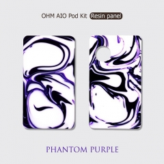 Replacement Resin Pannels + Drip Tip for Ohm Vape AIO 42W Kit - Phantom Purple
