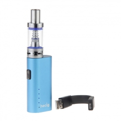 Authentic Hecig HEC 40W 2200mAh E-Cigarette Starter Kit 3ml/0.5ohm - Blue