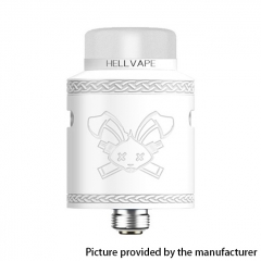 Authentic Hellvape Dead Rabbit V2 24mm RDA Rebuildable Dripping Atomzier w/ BF Pin - White