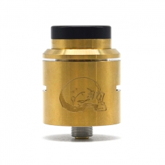 Vazzling C2MNT V2 Style 24mm RDA Rebuildable Dripping Atomizer w/ BF Pin - Gold