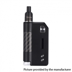 Authentic YiHi SXmini SX Auto DTL / MTL 1400mAh TC VW Box Mod Pod Kit w/ SX-ADA Atomizer 3.5ml - Carbon Black