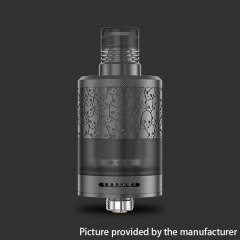 Authentic BD Vape Fumytech Precisio MTL Pure 22mm RTA 2.7ml (Engraved Version) - Black