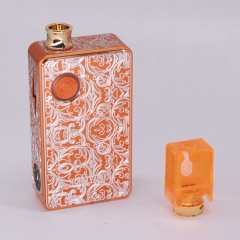 Authentic Ohm Vape AIO 42W 18650 Box Mod Pod System Starter Kit (Engraved Version) - Orange