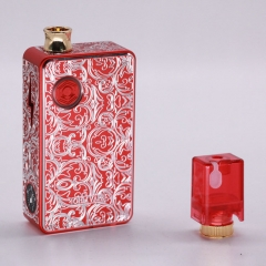Authentic Ohm Vape AIO 42W 18650 Box Mod Pod System Starter Kit (Engraved Version) - Red