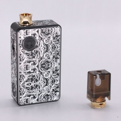 Authentic Ohm Vape AIO 42W 18650 Box Mod Pod System Starter Kit (Engraved Version) - Black