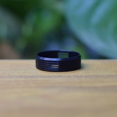 Replacement Decorative Beauty Ring for Dvarw 22 MTL RTA 24mm - Black