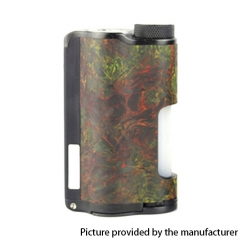 Authentic DOVPO Topside Dual 18650 200W TC VW APV Squonk Box Mod 10ml - Carbon Rusty