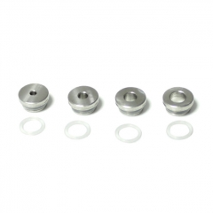 SXK Krma Gen Style DL / MTL RDTA Replacement Air Inlet Fittings 4pcs - Silver