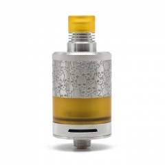 Authentic BD Vape Fumytech Precisio MTL Pure 22mm RTA 2.7ml (Engraved Version) - Silver