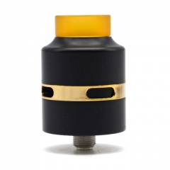 H24 Style 316SS RDA Rebuildable Dripping Atomizer w/BF Pin - Black