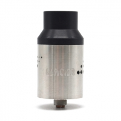 Glacier II Style 23mm RDA Rebuildable Dripping Atomizer - Silver
