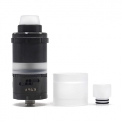 (Ships from Germany)ULTON Kronos 2S 23mm Style 316SS RTA Rebuildable Tank Atomizer 4ml - Black
