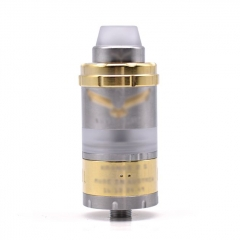 Vazzling Kronos 2S 23mm Style RTA Rebuildable Tank Atomizer 4ml - Silver Gold