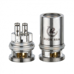 Authentic Reewape RUOK Replacement RBA Coil Head for Voopoo VINCI / VINCI R / VINCI X Pod System Kit - Silver