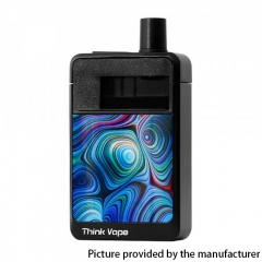 Authentic ThinkVape OMEGA AIO 30W 1200mAh VW Box Mod Pod System Vape Starter Kit 0.3ohm/0.6ohm/3ml - Cyan