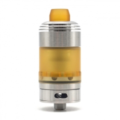 Coppervape Hussar Style Single Coil 22mm RTA Rebuildable Tank Atomizer w/ Mirco PEI Tank 2.5ml - Silver