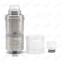 (Ships from Germany)ULTON Kronos 2M 25mm Style 316SS RTA Rebuildable Tank Atomizer - Silver