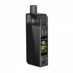 Authentic Voopoo Navi 40W 1500mAh VW Mod Pod Triple Airflow System Vape Starter Kit 0.45ohm/0.6ohm - Carbon Fiber