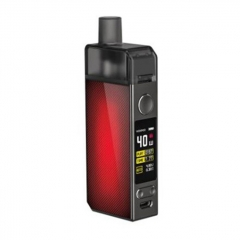 Authentic Voopoo Navi 40W 1500mAh VW Mod Pod Triple Airflow System Vape Starter Kit 0.45ohm/0.6ohm - Lattice Red