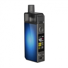 Authentic Voopoo Navi 40W 1500mAh VW Mod Pod Triple Airflow System Vape Starter Kit 0.45ohm/0.6ohm - Lattice Blue