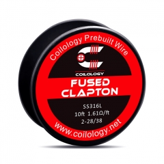 Authentic Coilology SS316L Fused Clapton Heating Wire 2*28/38 AWG 1.61ohm - 10 Feet