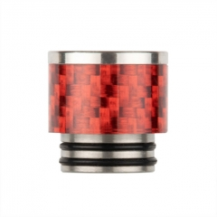 Reewape Replacement Stainless Carbon Fiber 810 Drip Tip AS291 - Red