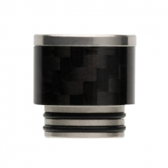 Reewape Replacement Stainless Carbon Fiber 810 Drip Tip AS291 - Black