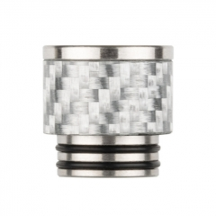 Reewape Replacement Stainless Carbon Fiber 810 Drip Tip AS291 - Silver