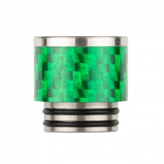 Reewape Replacement Stainless Carbon Fiber 810 Drip Tip AS291 - Green