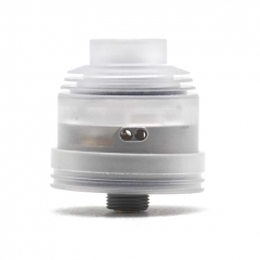 Hussar II Style 316SS 22mm RDA w/BF Pin/24mm Beauty Ring - Silver