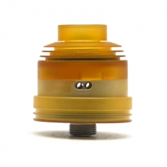 Hussar II Style 316SS 22mm RDA w/BF Pin/24mm Beauty Ring - Yellow