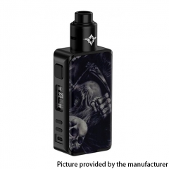 Authentic Rincoe Manto Pro 228W TC VW Variable Wattage Box Vape Mod 18650 w/Metis RDA Atomizer -Dead Skull